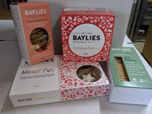 Baylies Epicurean Delights packaging
